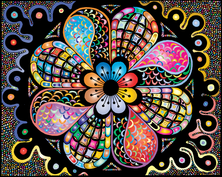 colourful zentangle inspired art work from Pixabay